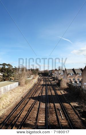 Railway Train Track Houses