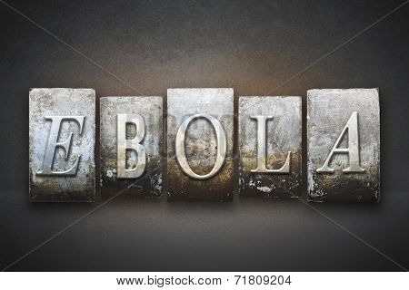 Ebola Letterpress
