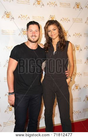 LOS ANGELES - SEP 10:  Val Chmerkovskiy, Zendaya Coleman at the Dance With Me USA Grand Opening at Dance With Me Studio on September 10, 2014 in Sherman Oaks, CA