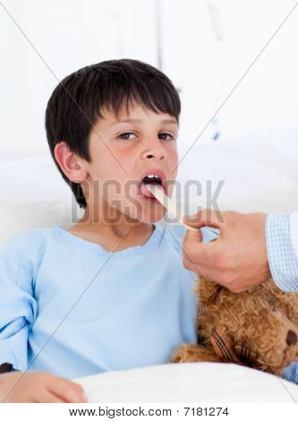Adorable Little Boy Attending Medical Exam
