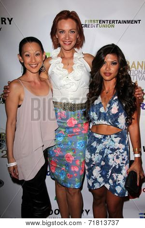 LOS ANGELES - SEP 6:  Nicole Bilderback, Kristanna Loken, Tiffany Panhilason at the
