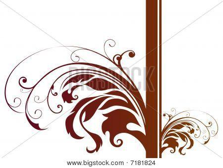 Brown Plant Pattern