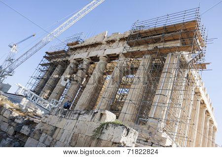Reconstruction Of Parthenon Temple