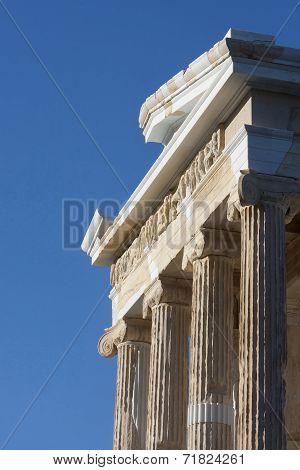 Close Up Of Temple Of Athena Nike