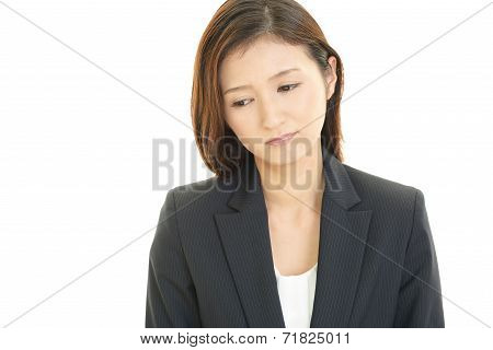 Women dissatisfied expression