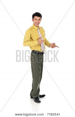 Asian Happy Businessman