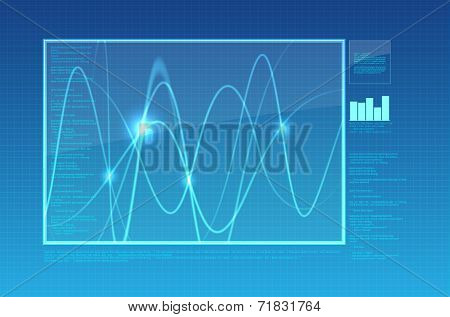 Abstract oscilloscope or computer Background