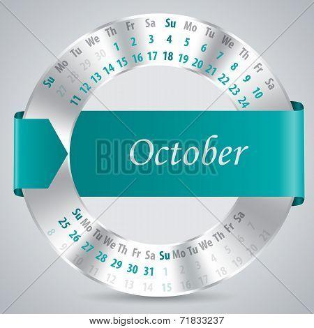 2015 October Calendar Design