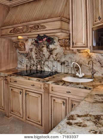 Kitchen range and granite