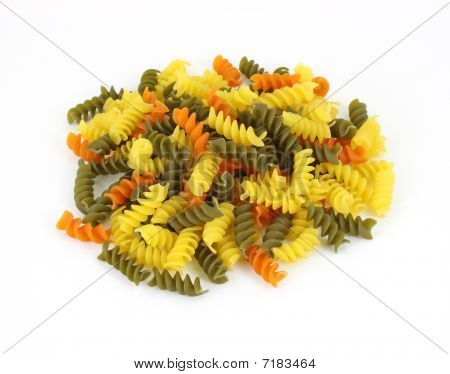 Rotini on White Background