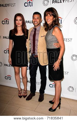 LOS ANGELES - SEP 8:  Rebecca Rittenhouse, Wilson Cruz, Rina Mimoun at the Paley Center For Media's PaleyFest 2014 Fall TV Previews - FOX at Paley Center  on September 8, 2014 in Beverly Hills, CA