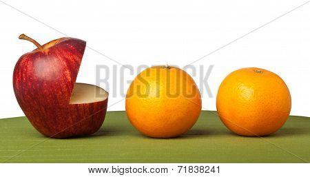 Apple Eat Orange