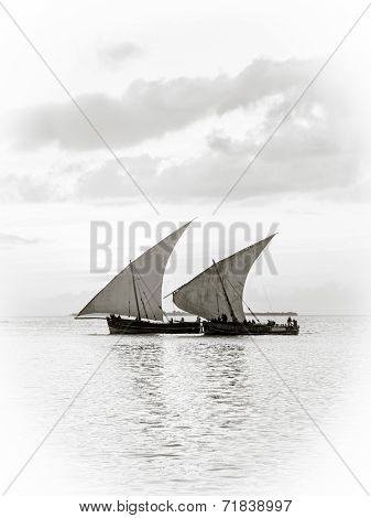 African dhow boats