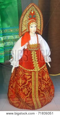 Traditional Russian Doll In National Costumes