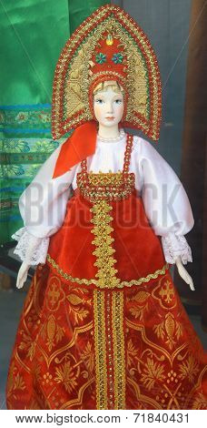 Traditional Russian Doll In Costume