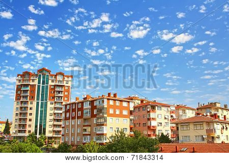 Multistoried living block of flats