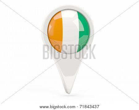 Round Flag Icon Of Cote D Ivoire