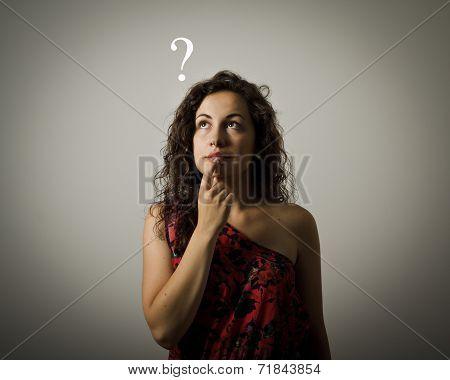 Hesitation. Question Concept.