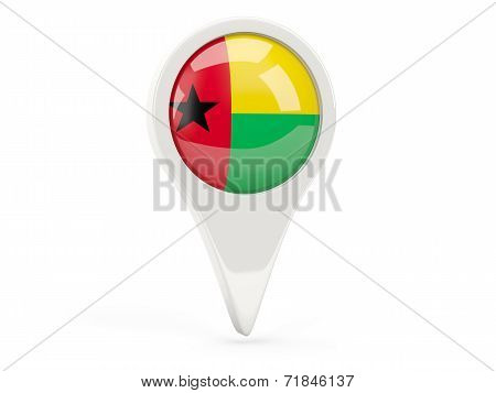 Round Flag Icon Of Guinea Bissau