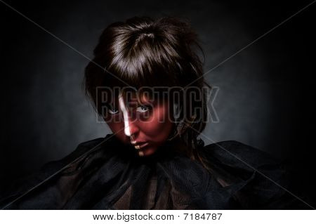 Young Lady With Creative Make-up