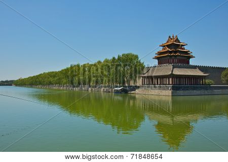 The Forbidden City's Corner Tower in Beijing