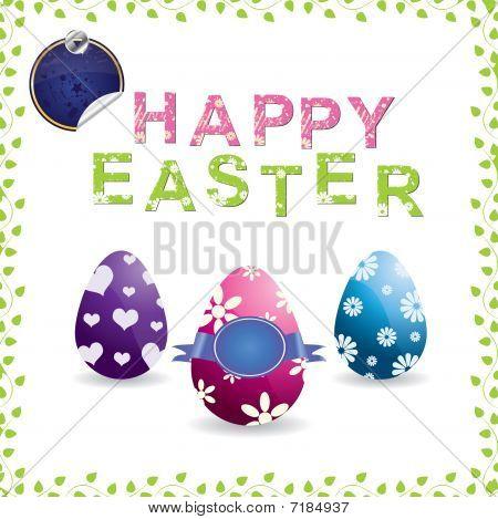 Easter eggs (vector)