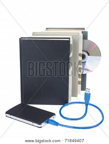 External Disk And Books