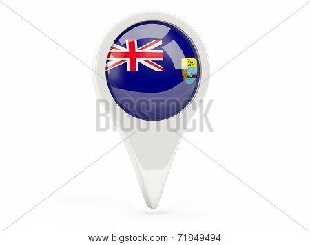 Round Flag Icon Of Saint Helena