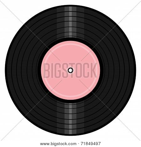 vinyl record on white background