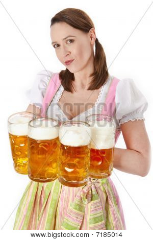 Serving Bavarian Beer