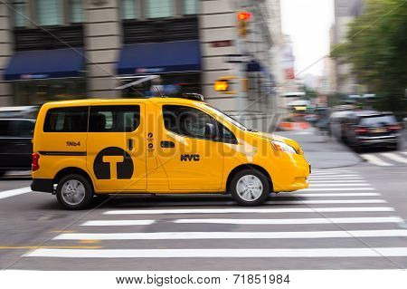 Bright Yellow New York Cab