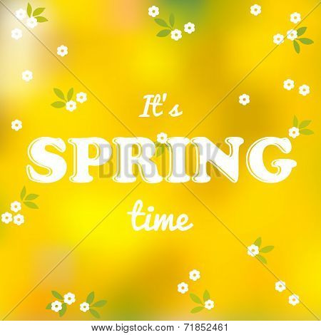 It Is Spring Time Words