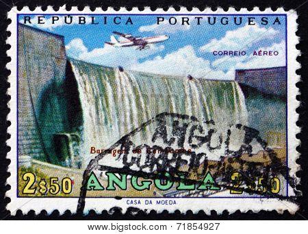 Postage Stamp Angola 1965 Cambambe Dam, Kwanza River