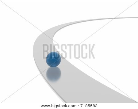 Blue Sphere And Way