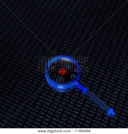 Binary Code And Loupe