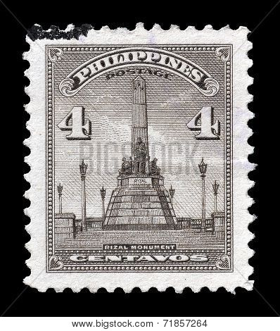 Rizal monument stamp