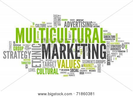 Word Cloud Multicultural Marketing