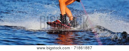 wakeboarding on the water