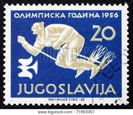 Postage Stamp Yugoslavia 1956 Skiing