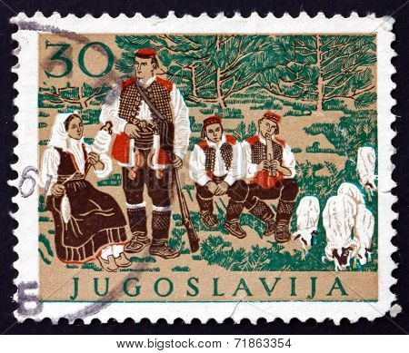 Postage Stamp Yugoslavia 1957 Croatian National Costume