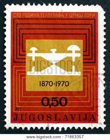 Postage Stamp Yugoslavia 1970 Telegraph Circuit