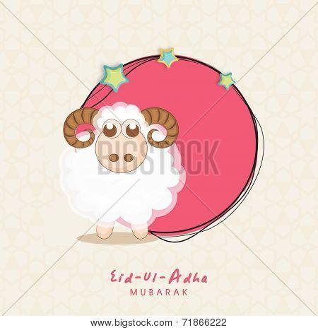 Muslim community festival of sacrifice eid ul adha greeting card muslim community festival of sacrifice eid ul adha greeting card with sheep poster m4hsunfo