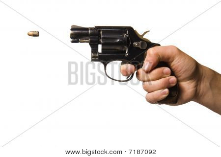 gun being fired