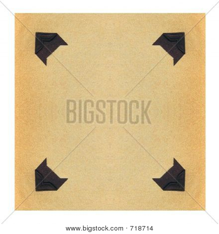 Vintage Black Photo Corners
