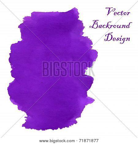 Violet Swirl Watercolor