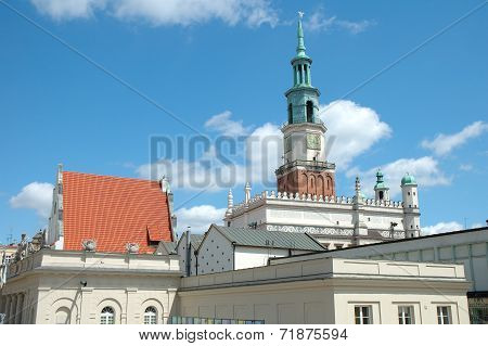 Town Hall Tower On Marketplace In Poznan