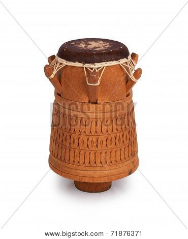Djembe, Surinam Percussion, Handmade Wooden Drum With Goat Skin