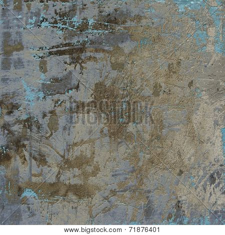3D Abstract Grunge Gray Blue Beige Wall Background