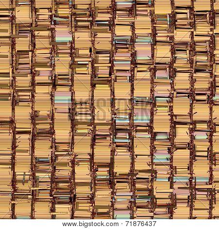 Abstract Fragmented Backdrop Pattern In Orange Beige