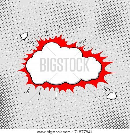 Explosion Pop-art Bubble Template Comic Style
